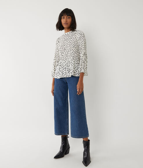 Spot Micropleat Top