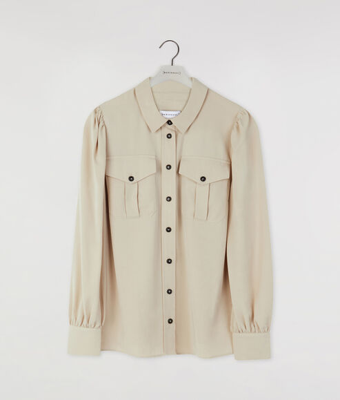 Utility Puff Sleeve Shirt